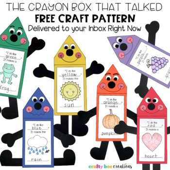 The Crayon Box That Talked Pattern Freebie